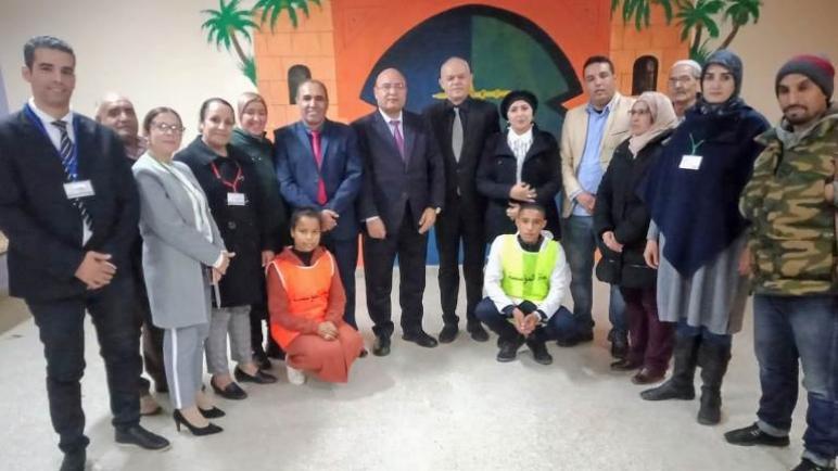 وفد تربوي رفيع المستوى يزور الثانوية الإعدادية عثمان بن عفان بضواحي مراكش