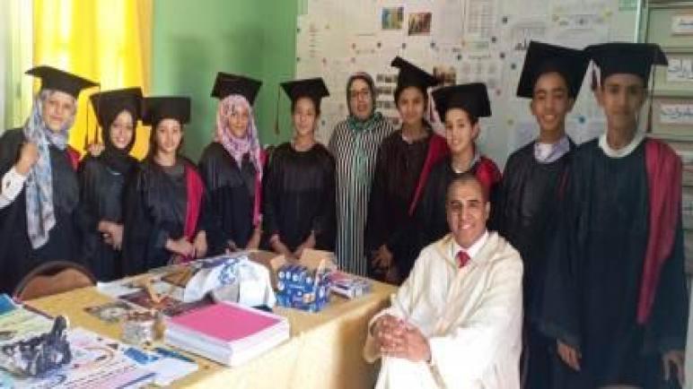 الثانوية الإعدادية عثمان بن عفان بالأوداية تنظم حفل التميز