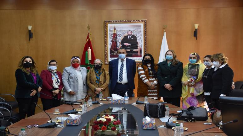 رئيس جهة الداخلة وادي الذهب يستقبل الجمعية المهنية للنساء المقاولات بالمغرب