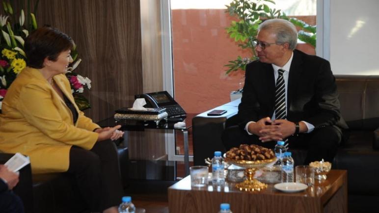 بلاغ صحفي حول استقبال السيد والي جهة مراكش أسفي للمديرة التنفيذية لصندوق النقد الدولي كريستينا جورجيفا