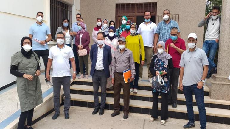 نقابة cdt للصحة بأسفي في لقاء تواصلي مع بنزروال مدير مستشفى محمد الخامس
