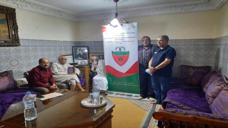 زيارة إنسانية للغنيمي رزقي من طرف اعضاء جمعية الانبعات لمتقاعدي الامن الوطني واراملهم سوس ماسة
