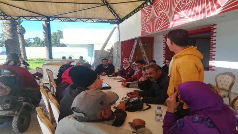 لقاء تواصلي للجمعيات المشتغلة في مجال دوي الاحتياجات الخاصة مع الناءب البرلماني حسن عديلي