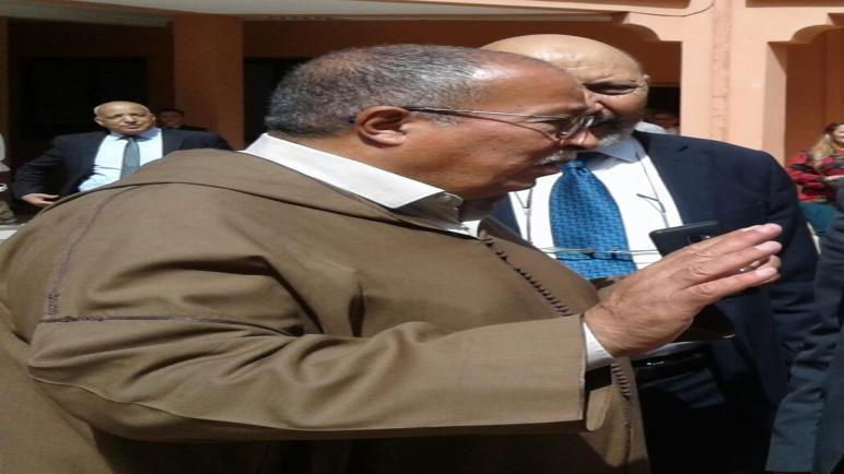 قرار تجريد السيد أحمد اخشيشن من العضوية في المكتب السياسي.