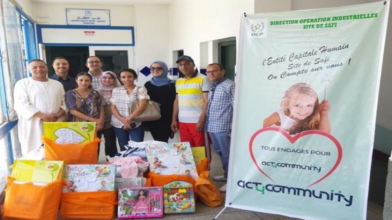 Act4Community يدخلون الفرحة على الاطفال و عائلاتهم بقسم ولادة الأطفال بمستشفى محمد الخامس باسفي