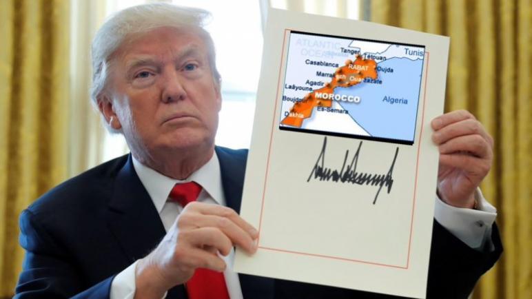إنتهى الكلام….رسميا الولايات المتحدة الأمريكية تعترف بسيادة المغرب على صحرائه
