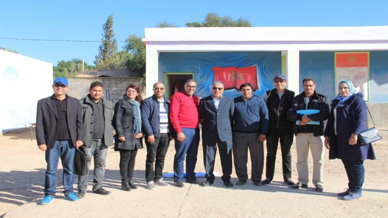 مدرسة سيدي بوزكري بمركز سميمو، المحطة الأولى للقافلة التكوينية الأولى في تقنيات المسرح المدرسي