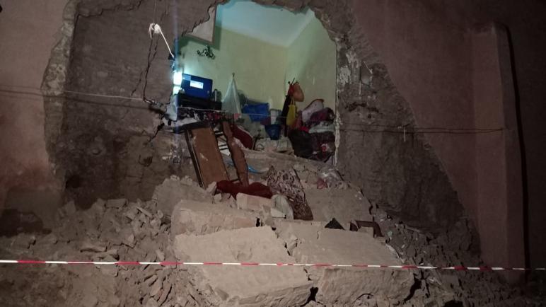 انهيار مفاجئ لمنزل بحي الملاح بمراكش