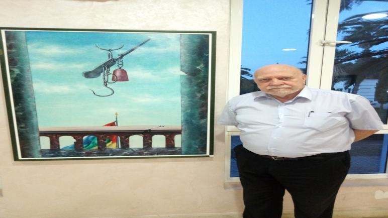 """الفنان الايطالي ' سكانزانو نزاريو """" يعرض أعماله الفنية بمدينة أسفي ."""