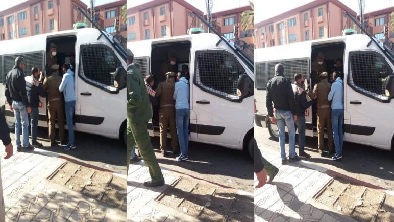 السلطات الأمنية تمنع اعتصام أساتذة التعاقد بمراكش