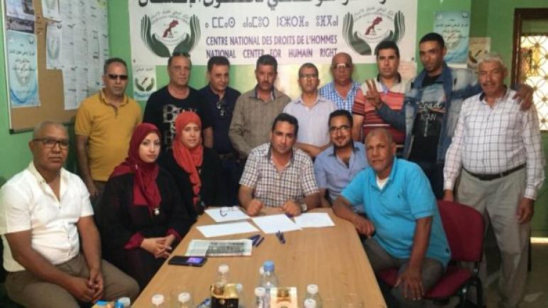 المكتب الاقليمي بأسفي للمركز الوطني لحقوق الانسان بالمغرب يستنكر الاعتقال الذي تعرض له الحقوقي أحمد زهير.