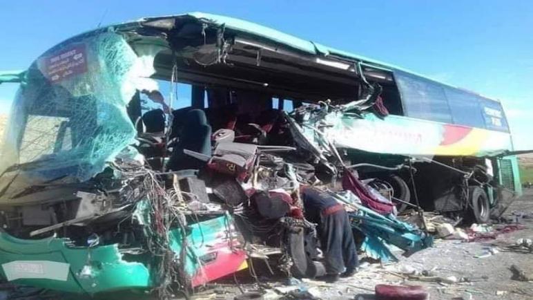 طابوگة منعرجات الموت : إعتقال سائق الحافلة التي أفجعتنا بموت 12 مواطنا و مساعده الذي حاول الفرار