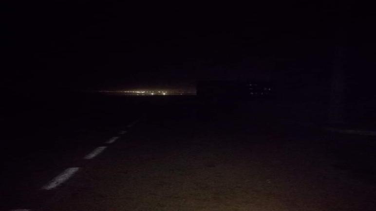 ظلام دامس بعد إنقطاع الكهرباء بالأحياء الجنوبية لمدينة أسفي.
