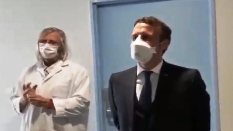 """مفاجأة الرئيس """"ماكرون"""" يكتشف أن فريق العالم الفرنسي """" ديديه راوول """" للأبحاث من العرب والأفارقة… …"""