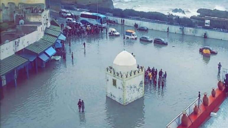 نصف ساعة من الأمطار تغرق مدينة أسفي وتعري واقع البنية التحتية